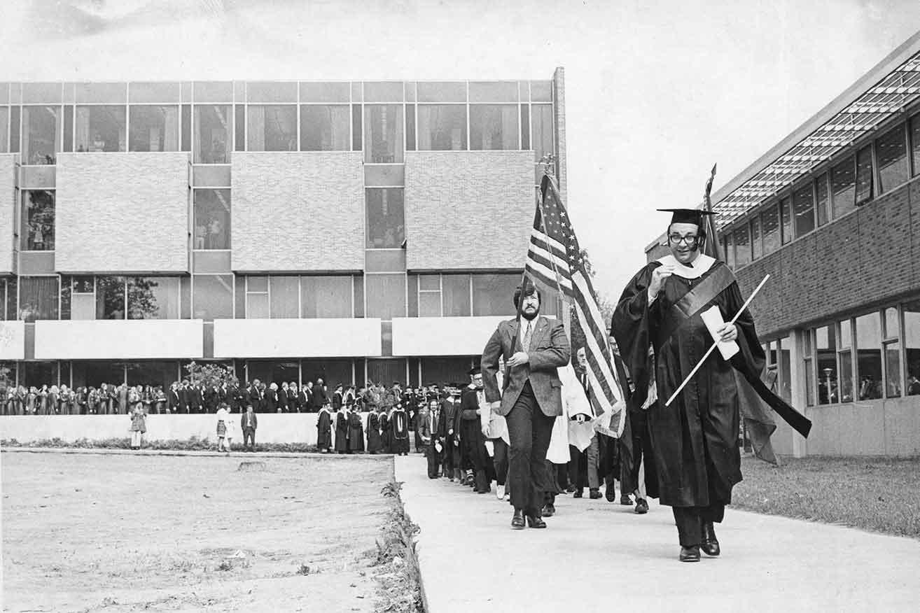 Hagg-Sauer Hall dedication, 1970.