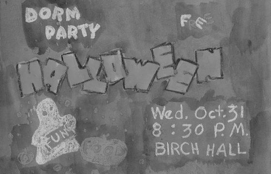 Halloween dorm party in Birch Hall, 1950's