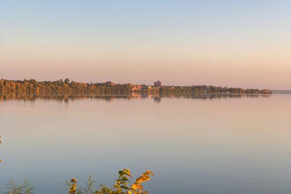 Bemidji State's Tamarack Hall, Bemidji's Tallest Building, is just a few steps from the shores of Lake Bemidji