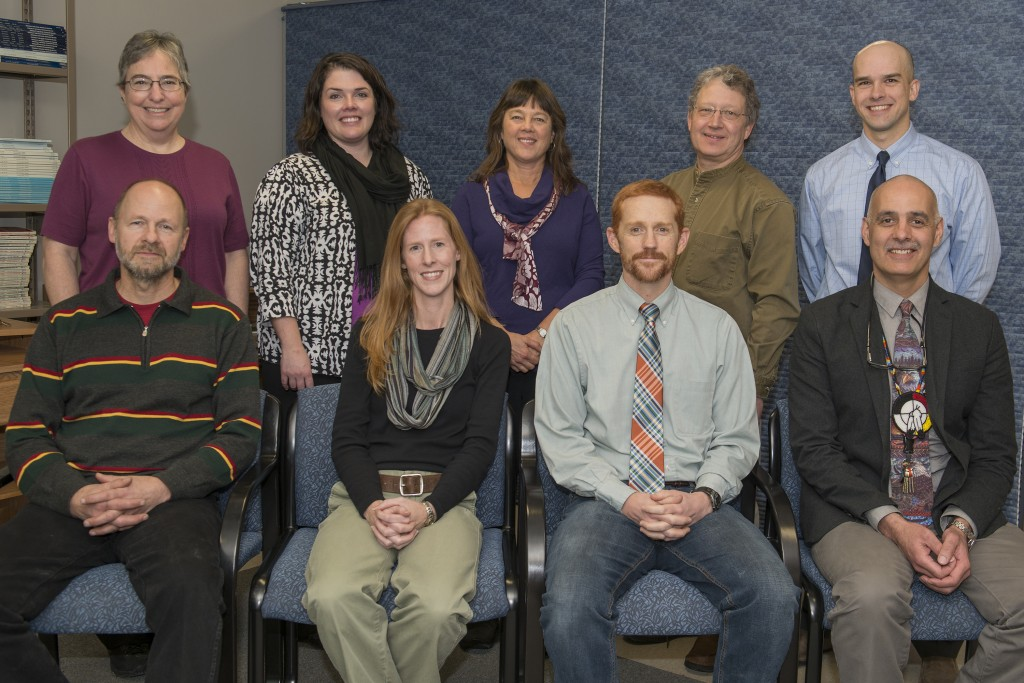 Front row (from left): Dwight Fultz, Angela Fournier, Travis Ricks and John Gonzalez. Back Row (from left): Marsha Driscoll, Kate Larson, Laurie Desiderato, Richard Hook and Keith Gora.