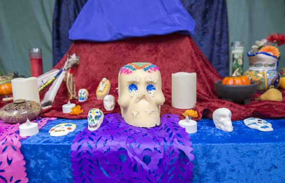 Dia de los muertos altar in the Center for Diversity, Equity and Inclusion