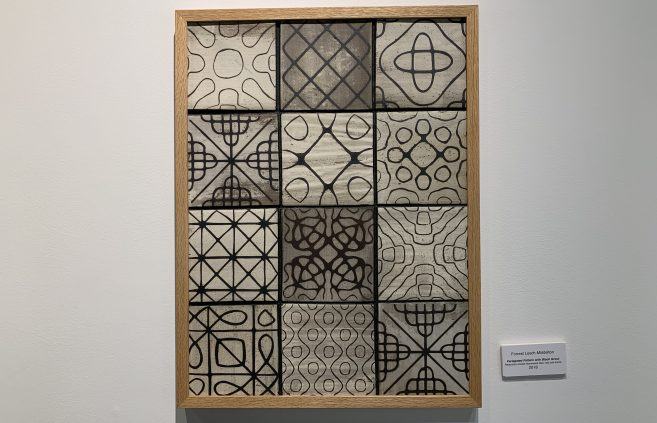 """Variegated Pattern with Black Grout"" by Forrest Lesch-Middelton."