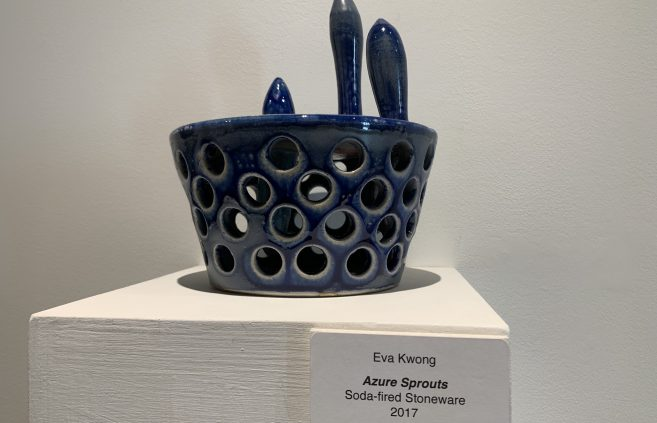 """Azure Sprouts"" by Eva Kwong."