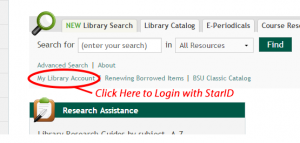 Access digital library reserves by logging in with your StarID.