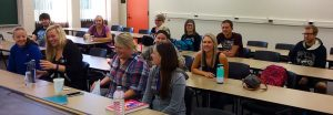 BSU students on-campus at Anoka Ramsey Community College, preparing for class!