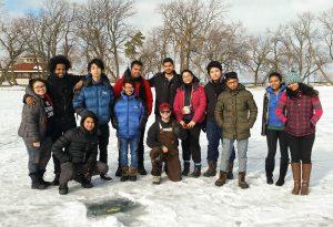 International Students Ice Fishing