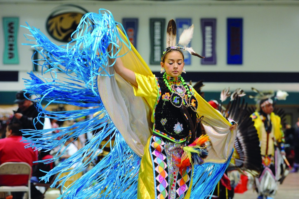 Dancer at BSU's annual traditional pow wow.