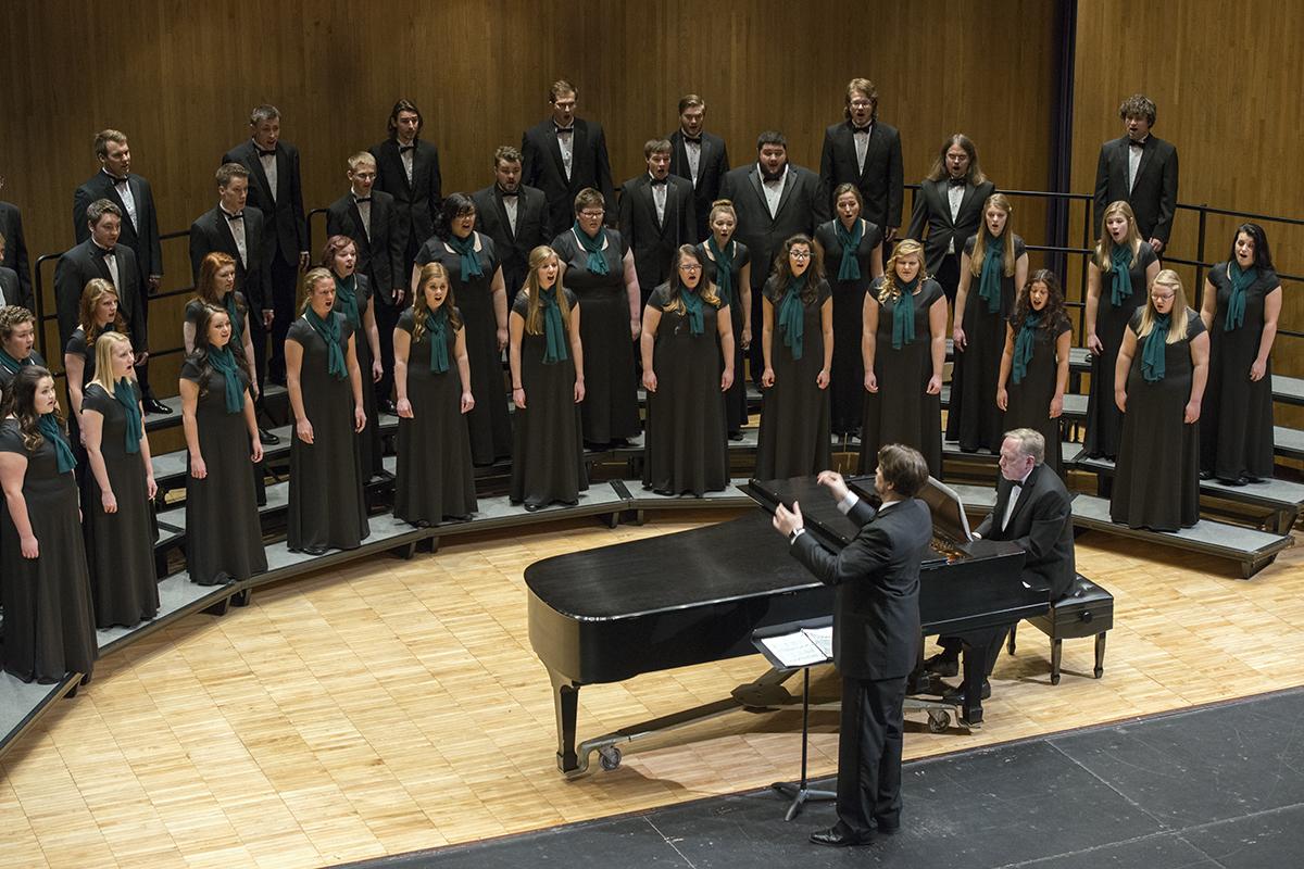 The Bemidji Choir under the direction of Dr. Dwight Jilek