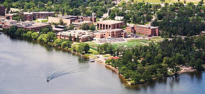 Aerial view of Bemidji State University