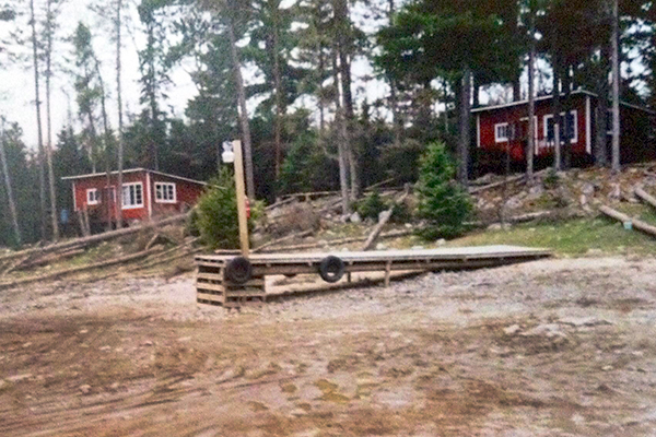 Low water has led to a stranded, land-locked dock in a photo from on one of the resorts Welle and his group researched over the summer