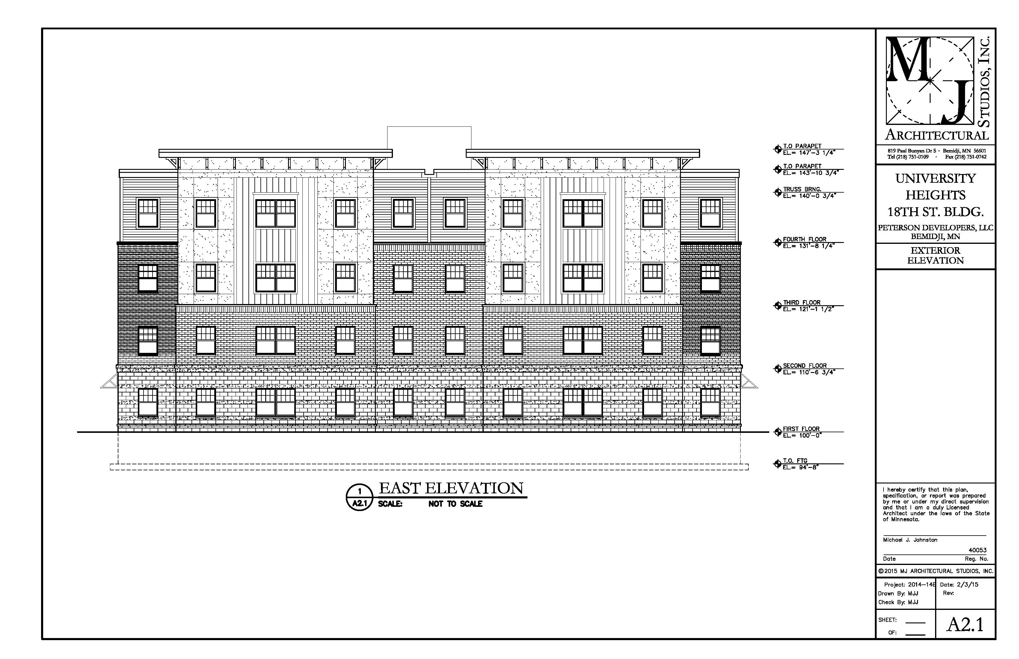 Exterior Elevation Plan : Gallery plans for university heights bsu news bemidji