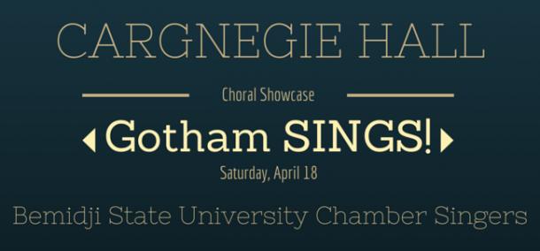 BSU Chamber Singers @ Carnegie Hall