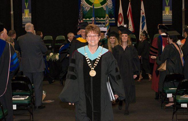 BSU President Faith Hensrud.
