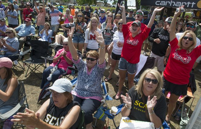 More fans at the Lake Bemidji waterfront during Friday's weigh in.