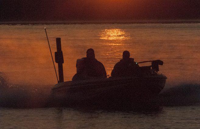 Lake Bemidji on Day 2.