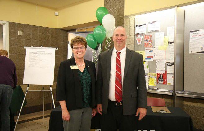 BSU President Faith Hensrud and ARC President Kent Hanson.