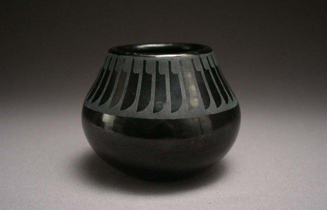 Maria Martinez—burnished blackware jar