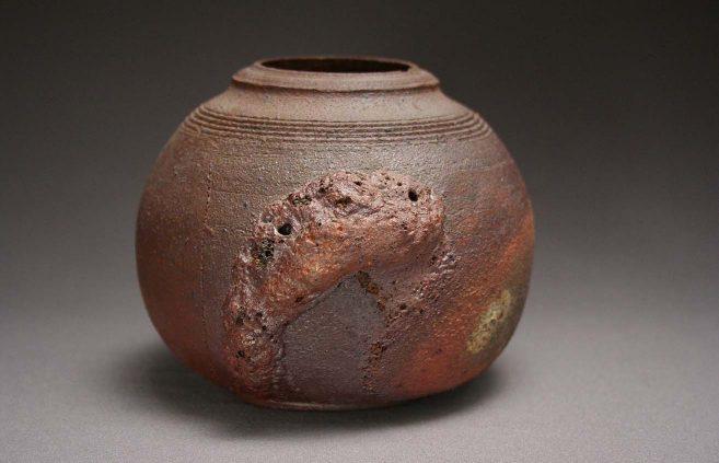 Margaret Harlow—raku vase
