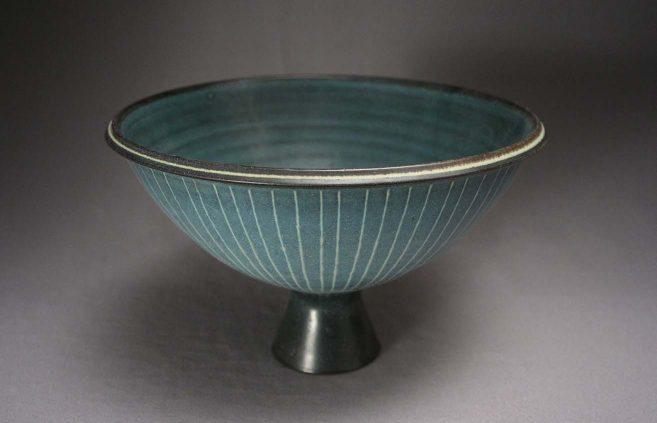 Harrison MacIntosh—stoneware footed bowl