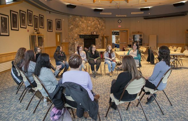 Niganawenimaanaanig Program met for the first time as a group Nov. 16 at the American Indian Resource Center.
