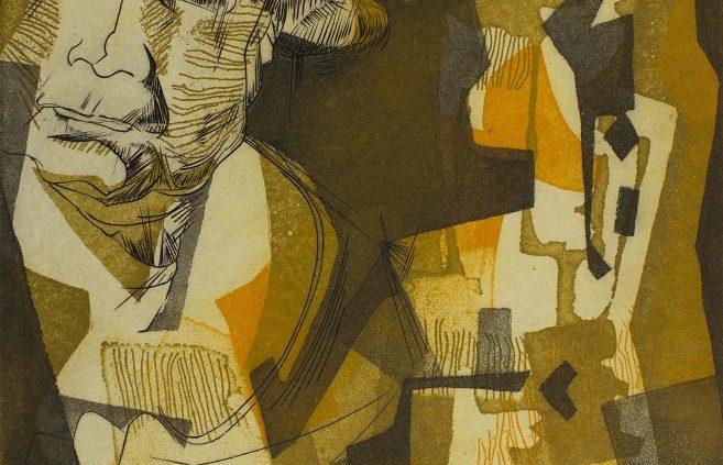 """Eugene Dalzotto, """"Jenny,"""" etching"""