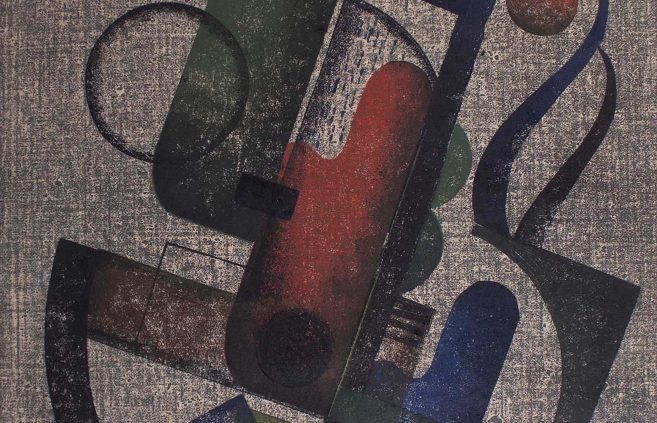 """Charles Smith, """"Red, Blue and Green,"""" block print"""