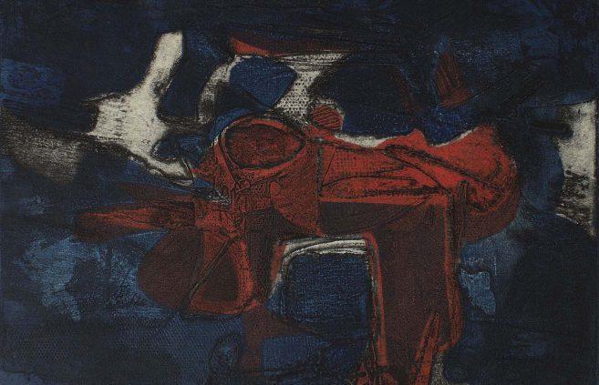"Karl Kasten, ""La Mer,"" color etching"