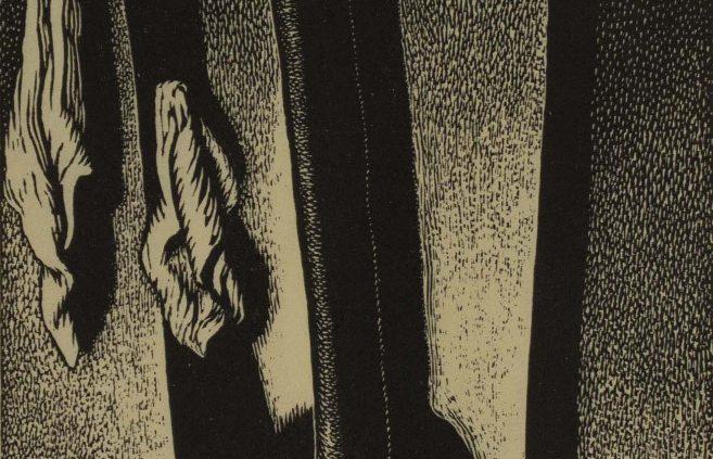 """Wanda Gag, """"Airtight Stove,"""" wood engraving"""