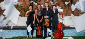 The Argus Quartet: Clara Kim, Dana Kelley, Jason Issokson, Joann Whang