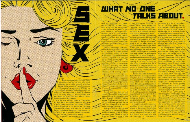 """Sex: What No One Talks About"" feature illustration by Hope Wall. Second place, Use of Information Graphics and Graphic Illustration."