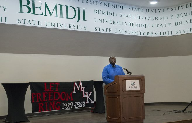 Dr. Jesse Grant speaks on the life and legacy of Dr. King.