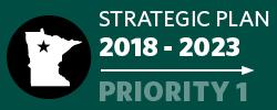 Badge: 2018-23 Strategic Plan: Priority 1