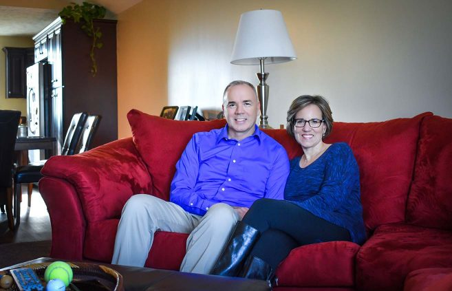 John and Dawn Bolduc at home in Lincoln, Neb., on Dec. 10.