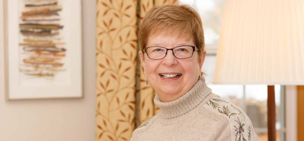 Lynne Holt '80 at home in St. Paul on Dec. 16.