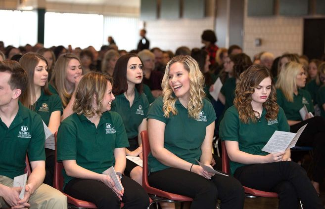 BSU's Department of Nursing officially inducted 62 students into the program during a Feb. 17 induction ceremony.