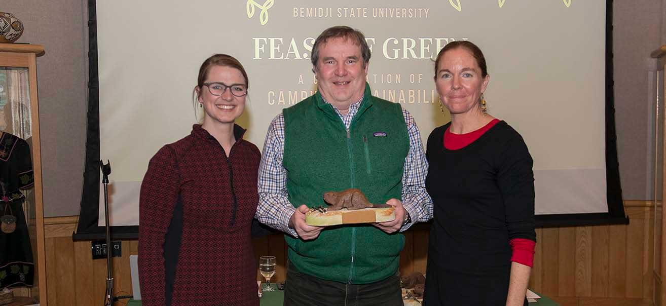 Dr. Patrick Welle, professor emeritus of economics, was one of three recipients of BSU's first Amik Awards.