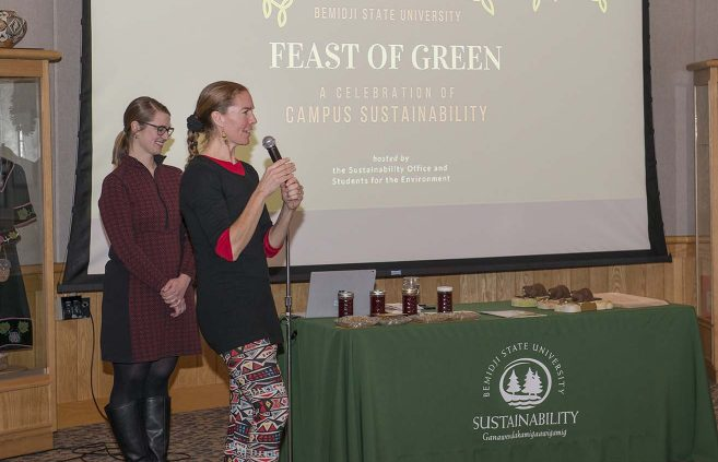 Erika Bailey-Johnson speaks during the Feast of Green.