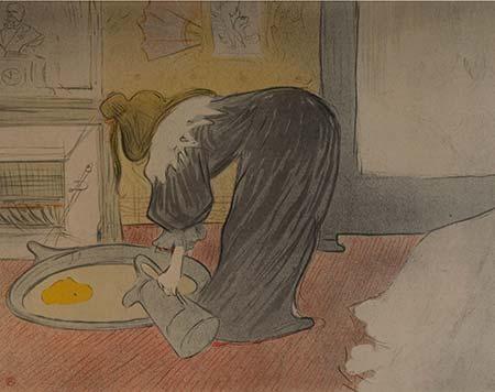 """""""Chambermaid"""" by Henri de Toulouse-Lautrec"""
