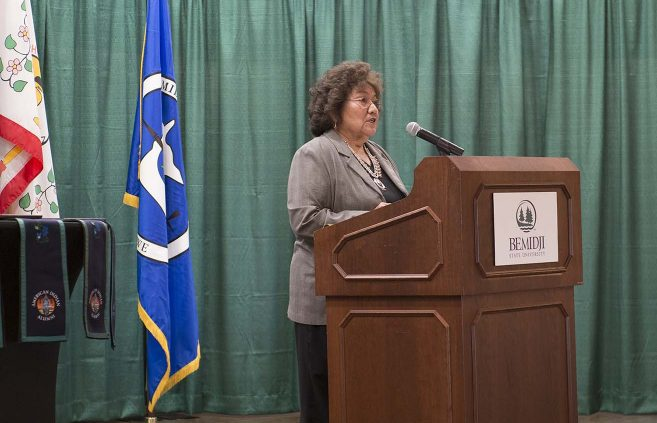 Ursula Knoki-Wilson, community relations liaison officer, Office of the CEO, with Indian Health Service in Chinle, Ariz., provided the keynote address.