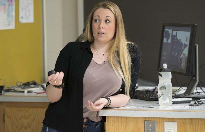 Shannon McNamara's research focuses on wolf habitat selection.