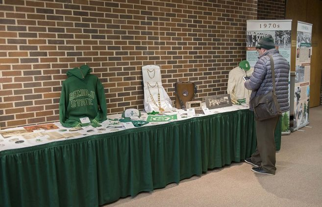 The AC Clark Library provided a table full of historical artifacts for the pre-celebration History Walk event in Bangsberg.