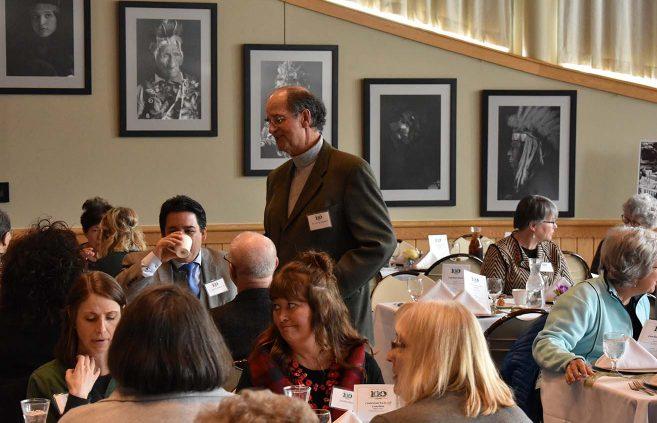 Former BSU President Jon Quistgaard at the alumni luncheon.