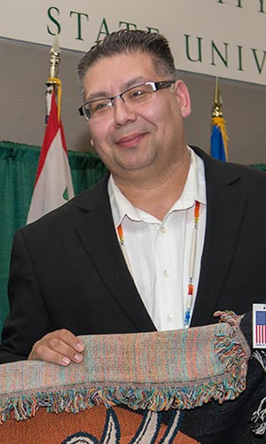Bill Blackwell Jr., executive director of Bemidji State University's American Indian Resource Center