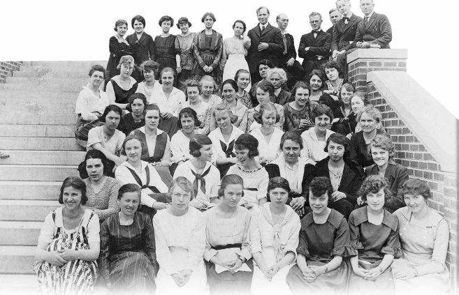Class photo, May 1920.