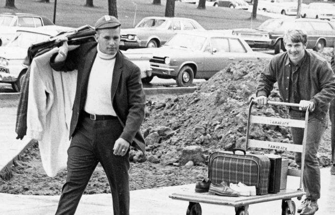 Freshman move-in, 1960s.