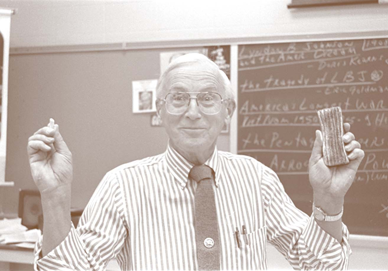 Dr. Art Lee in the classroom, 1995.