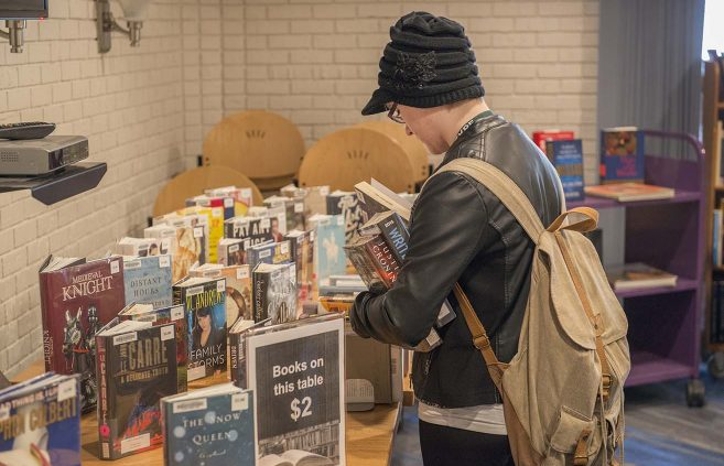 Book sale at A.C. Clark Library on Jan. 24.