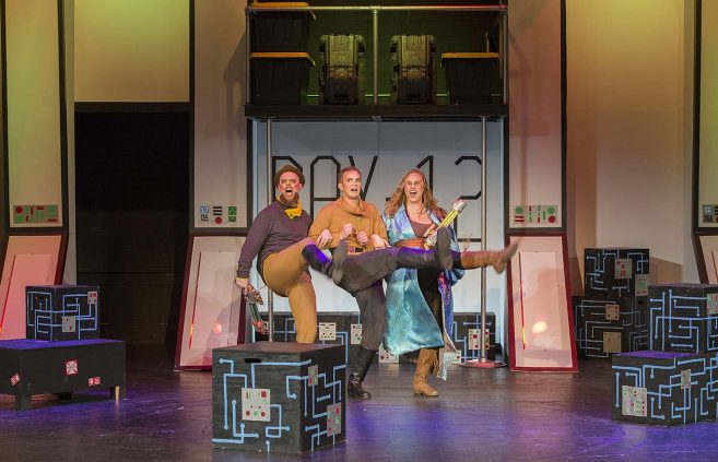 """Pirates of Penzance"" opera dress rehearsal in Bangsberg Fine Arts Complex on Feb. 28."