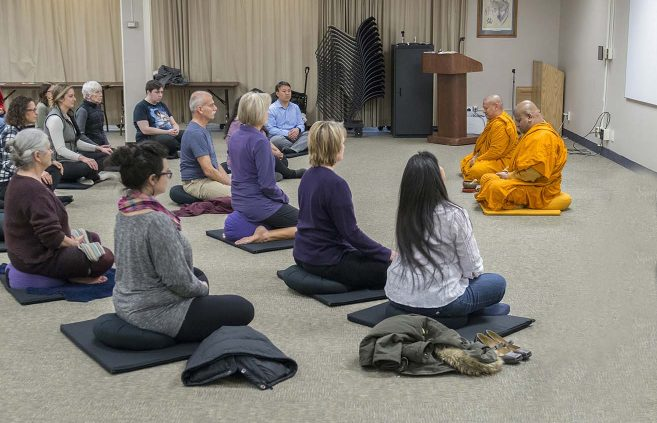 Mindfulness Meditation on April 10 in the Crying Wolf Room.