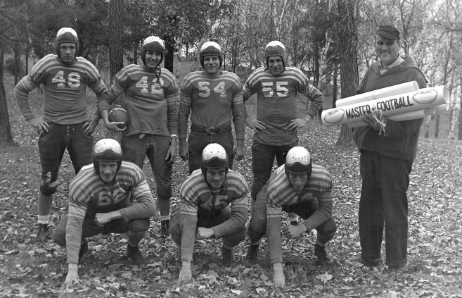 Bemidji State Teachers College football team, 1945.
